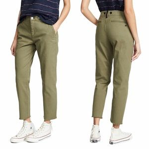 RAG & BONE Buckley Crop Chino Pants Olive 24 NEW
